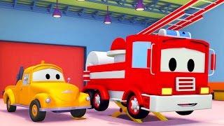 Camion dei Pompieri e Tom il Carro Attrezzi in Car City   Cartone animato di Auto & Camion 🚚🚒