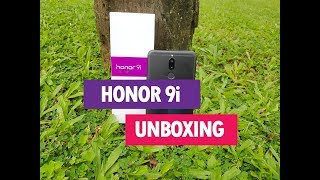 Honor 9i Unboxing (4 Cameras), Hands on, Camera Samples and Software Features
