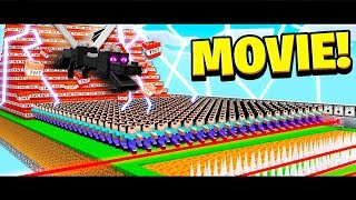 500 FANS vs EVERYTHING IN MINECRAFT! (MOVIE)