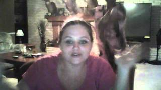 mom trying out webcam