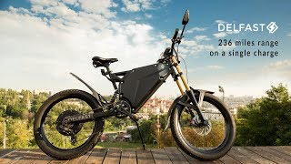 Delfast, the only e-bike with 236 miles / 380 km range on a single charge, no pedalling