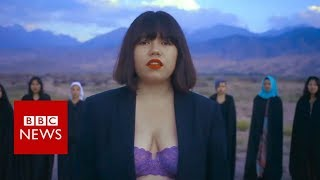 Death threats for singing in her bra - BBC News
