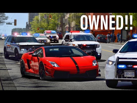 COPS MESSING WITH THE WRONG LAMBORGHINI DRIVER