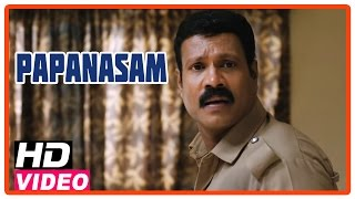 Papanasam Tamil Movie | Scenes | Kalabhavan Mani beats Kamal Haasan and Family | Asha Sarath