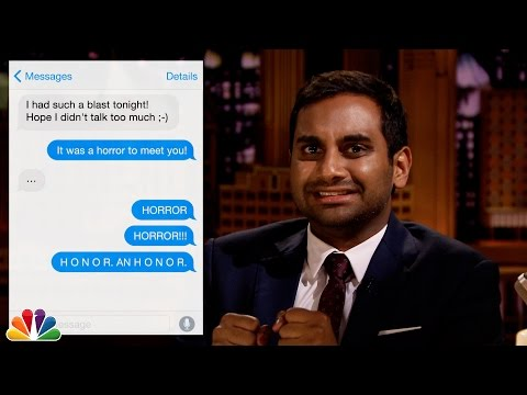 First Textual Experience with Aziz Ansari
