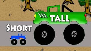 Vids4kids.tv - Short And Tall Monster Trucks