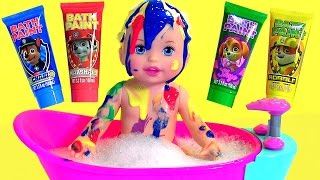 Little Mommy Bubbly Bathtime Color Changing Baby Doll with Bath Paint Paw Patrol by Disney Collector
