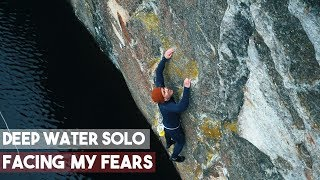 Winter Deep Water Solo In Norway - Facing My Fears - Climbing - Magnus Midtbø