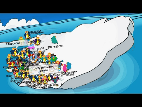TIPPING THE ICEBERG Club Penguin Funny Moments