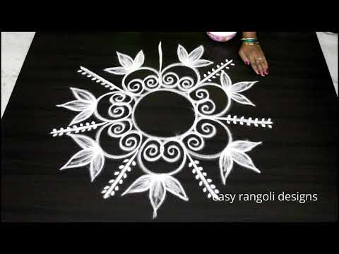 Xxx Mp4 Amazing Freehand Kolam By Easy Rangoli Designs Muggulu Without Dots 3gp Sex