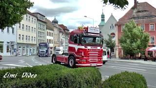 Großer Truck-Konvoi durch Bautzen