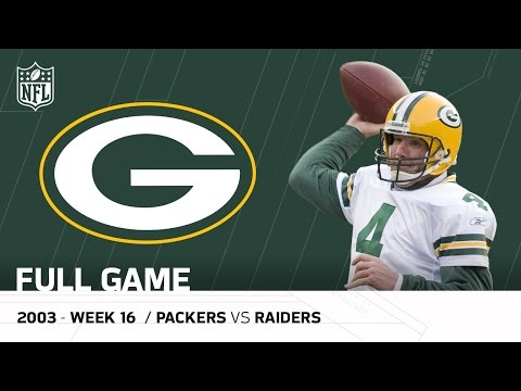 Brett Favre's Legendary Performance After his Dad's Passing | Packers vs. Raiders | NFL Full Game