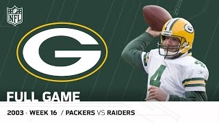 Full Game: Brett Favre's Plays on MNF After His Dad's Passing | Packers vs. Raiders | NFL