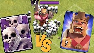 SKELETON ARMY vs. EVIL KING!!🔸PROTECT YOUR FEET!!!!🔸Clash Of Clans 😀🔸