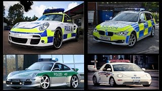 Transport and Vehicles for Kids Toddlers Children Learn Police Cars from Around The World