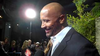 Dwayne Johnson at the premiere of