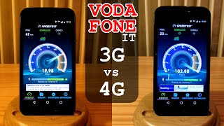 3G vs 4G Vodafone SPEED TEST in Italy - Ping Upload Download