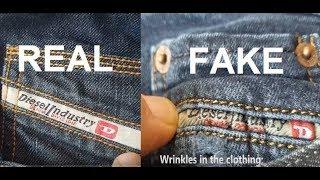 Real vs fake Diesel Jeans. How to spot fake Diesel