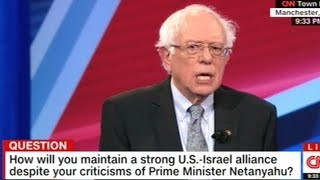 """Bernie Sanders Says Israel """"Is Run By A Right-Wing Racist Government!"""""""