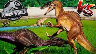 SPINORAPTOR vs INDORAPTOR (MAX LEVEL - GRUPOS)| Jurassic World Evolution | B. Jurássica [#39] |PT/BR