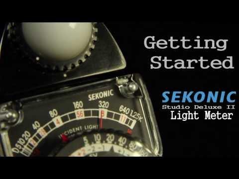 Getting Started Sekonic Studio Delux II Light Meter - FOR FILM (CINE)