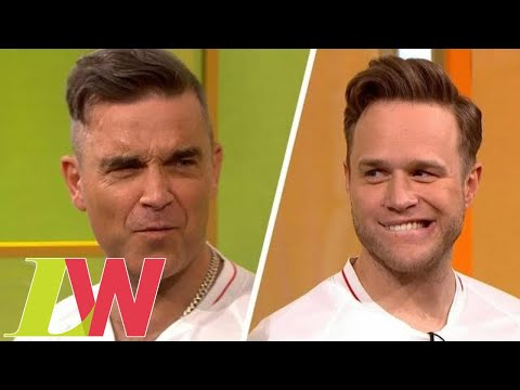 Robbie Williams Forced to Sing Olly Murs Hit as Forfeit for Losing Penalty Shootout | Loose Women