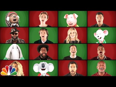 Jimmy Fallon Paul McCartney and Sing Cast Perform Wonderful Christmastime A Cappella