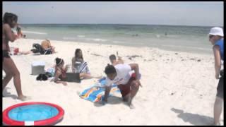 Snake on the beach prank