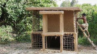 Primitive Technology, Mud Hut two floor