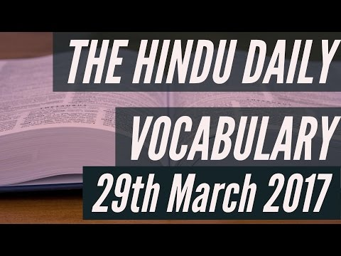 Xxx Mp4 The HINDU Daily Vocabulary 29th MARCH 2017 Learn English Words With Meaning In HINDI 3gp Sex