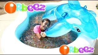 Orbeez Pool and Dolphin Summer Water Fun Play!! B2cutecupcakes