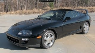 1998 Toyota Supra Turbo 6-spd Start Up, Exhaust, and In Depth Review