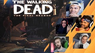 Gamers Reactions to AJ Cutting Clementine's Leg | The Walking Dead: [S4][E4] Take Us Back