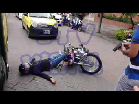 impresionante en vídeo quedo registrada la muerte de un sicario en ibague