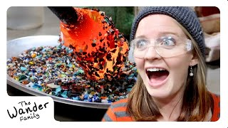 AMAZING GLASS BLOWING ART!! | The Wander Family