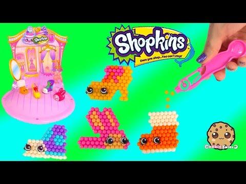 Shopkins Season 2 3 Fashion Cuties Beados Shoes Craft Playset Unboxing