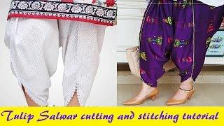 Tulip Salwar cutting and stitching Tutorial
