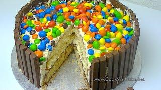 M&M & KITKAT CAKE *COOK WITH FAIZA*