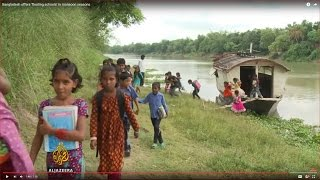 Bangladesh offers 'floating schools' in monsoon seasons
