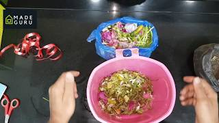 Organic compost fertilizer how to make at home with kitchen waste -Telugu