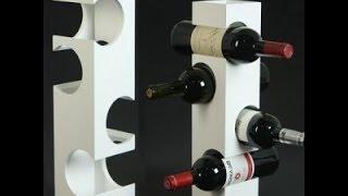 Make a bottle rack recycling cardboard