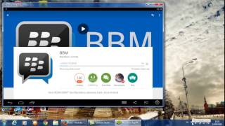 cara mudah mendownload bbm dilaptop dengan blue stacks