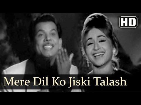 Mere Dil Ko Jiski Talash (HD) - Ustaadon Ke Ustad Song - Johnny Walker  - Helen