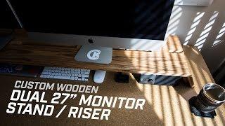 DIY Dual Monitor Stand + Desk Organization
