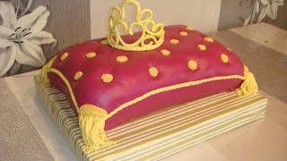 Elegant Princess Cake (Princess Crown on Pillow cake) sweet 16 cake