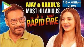 LOL: Ajay Devgn & Rakul's CRAZY Rapid Fire On Akshay Kumar, Saif-Kareena, Live In, Casanova