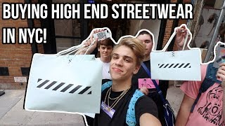 BUYING HIGH END STREETWEAR IN NYC!! (OFF WHITE, BAPE, ETC)