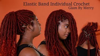 NEW METHOD - Individual Crochet Goddess Locs ELASTIC BAND Method - Non-Braiders Friendly