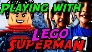Play Water With Lego Superman and Friends