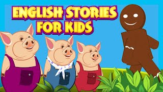 English Stories For Kids - Learning Stories | Three Little Pigs, The Lion & The Mouse and more